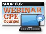 Shop for Webinar CPE courses