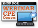 Shop for Webinar CPE courses
